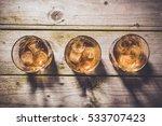 overhead shot of glasses of... | Shutterstock . vector #533707423