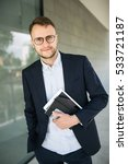 young hipster businessman in... | Shutterstock . vector #533721187