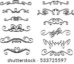 collection of hand drawn... | Shutterstock .eps vector #533725597