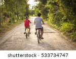 boy and bicycle | Shutterstock . vector #533734747