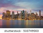 new york city   famous... | Shutterstock . vector #533749003