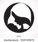 mother and baby. linear... | Shutterstock .eps vector #533749873
