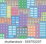seamless city town pixel art...   Shutterstock .eps vector #533752237