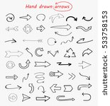 vector hand drawn arrows.doodle ... | Shutterstock .eps vector #533758153