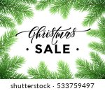 christmas sale text on pine... | Shutterstock .eps vector #533759497