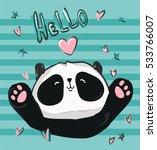 vector panda  illustration...   Shutterstock .eps vector #533766007