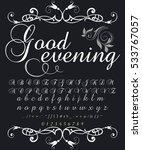 script handcrafted vector... | Shutterstock .eps vector #533767057