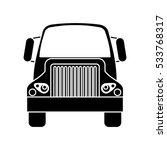 silhouette front truck... | Shutterstock .eps vector #533768317