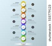 infographic design template  7... | Shutterstock .eps vector #533779123