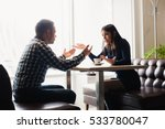 man and woman in discussions in ... | Shutterstock . vector #533780047
