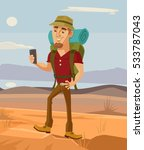 tourist smiling man character... | Shutterstock .eps vector #533787043