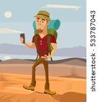 tourist smiling man character... | Shutterstock .eps vector #533787043