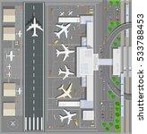 airport passenger terminal | Shutterstock . vector #533788453
