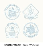 merry christmas and happy new... | Shutterstock .eps vector #533790013