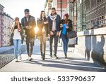 group of multi ethnic friends... | Shutterstock . vector #533790637