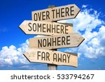 wooden signpost with four... | Shutterstock . vector #533794267