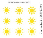 vector sun icons set. | Shutterstock .eps vector #533794327