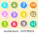 colorful calendar circle labels ... | Shutterstock .eps vector #533798323