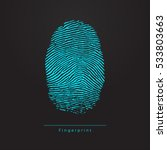 fingerprint. vector blue... | Shutterstock .eps vector #533803663