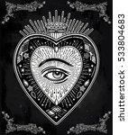 ornate mystic eye inside the... | Shutterstock .eps vector #533804683
