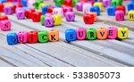 quick survey words on wooden... | Shutterstock . vector #533805073