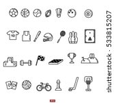 sports line icon set | Shutterstock .eps vector #533815207