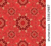 mandalas background. red  pink. ... | Shutterstock .eps vector #533819887