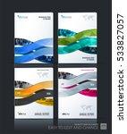 business vector set. brochure... | Shutterstock .eps vector #533827057