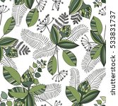 scandinavian vector floral... | Shutterstock .eps vector #533831737