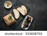 italian ciabatta bread  on...   Shutterstock . vector #533838703