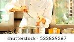 preparing the chef for dinner.... | Shutterstock . vector #533839267
