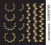 silhouette laurel and oak... | Shutterstock .eps vector #533839783