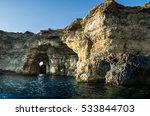blue lagoon and the high... | Shutterstock . vector #533844703