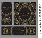 vector banners in gold and... | Shutterstock .eps vector #533845153