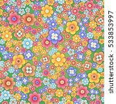 abstract seamless floral... | Shutterstock .eps vector #533853997