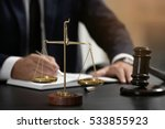 scales of justice and judge... | Shutterstock . vector #533855923