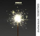 Burning Sparkler Vector...