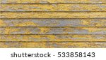 Painted Yellow Wood Shabby...