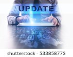 update concept. businessman... | Shutterstock . vector #533858773