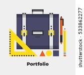 portfolio flat icon. material... | Shutterstock .eps vector #533862277