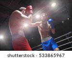 fighting men in a boxing ring | Shutterstock . vector #533865967
