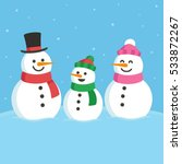 cartoon snowman family...