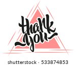 thank you lettering. hand... | Shutterstock .eps vector #533874853