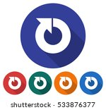 round icon of recycling arrow.... | Shutterstock .eps vector #533876377