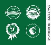 suitable for vegetarian. vegan... | Shutterstock .eps vector #533887927