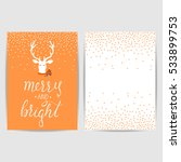 merry and bright lettering... | Shutterstock .eps vector #533899753
