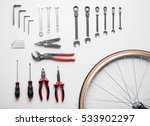 bicycle fixing tool kit. flat... | Shutterstock . vector #533902297