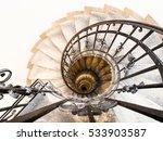 upside view of indoor spiral...   Shutterstock . vector #533903587