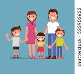 family portrait  family photo ...   Shutterstock .eps vector #533903623
