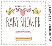 baby shower invitation template.... | Shutterstock .eps vector #533910967